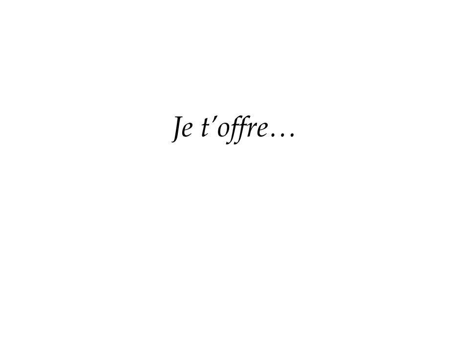 Je toffre…
