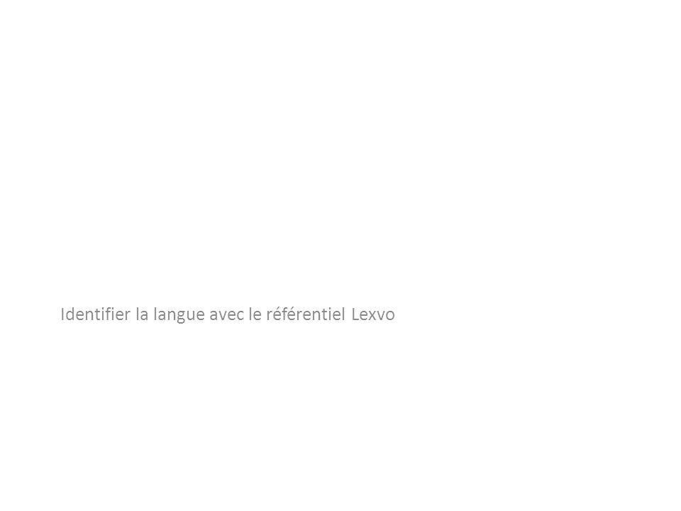 Identifier la langue avec le référentiel Lexvo