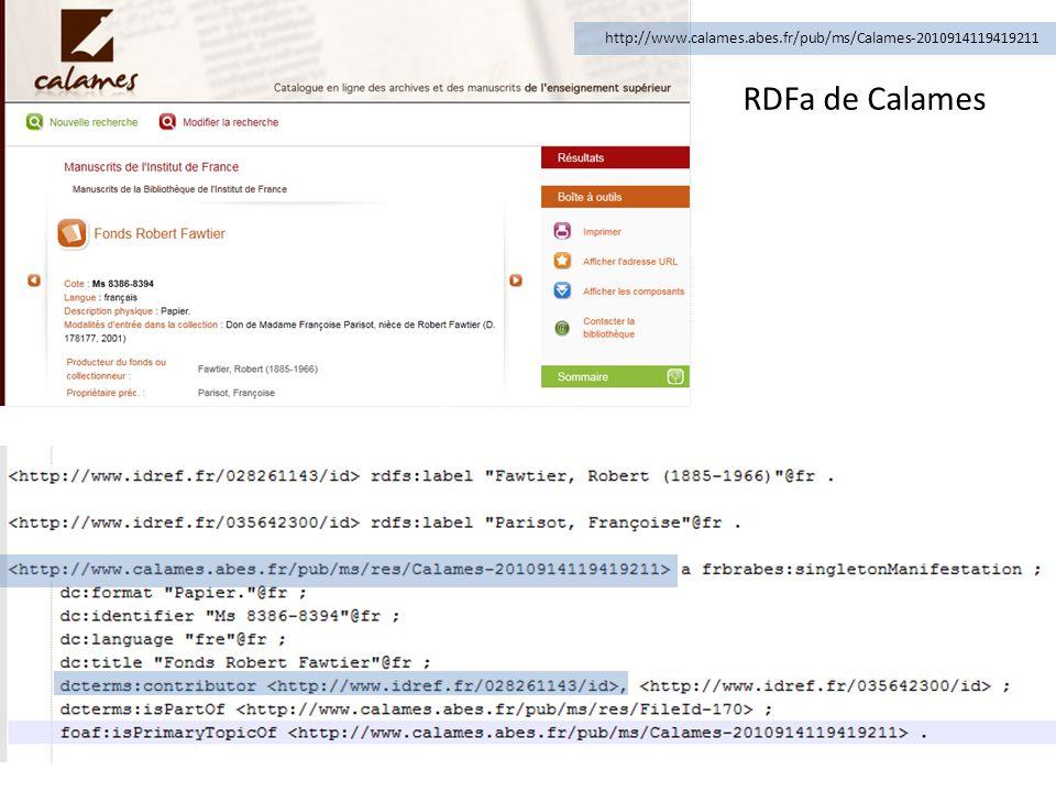 RDFa de Calames http://www.calames.abes.fr/pub/ms/Calames-2010914119419211