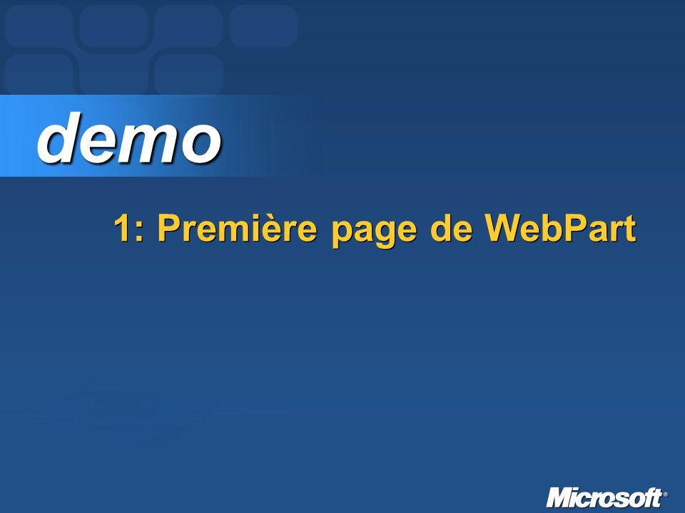 1: Première page de WebPart demo demo