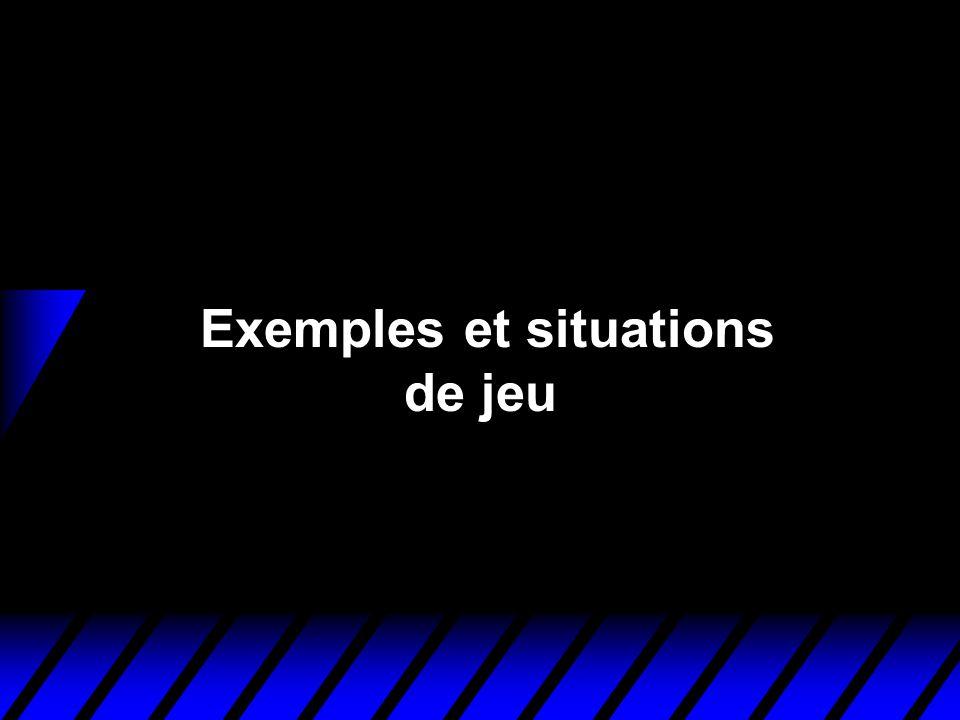 Exemples et situations de jeu