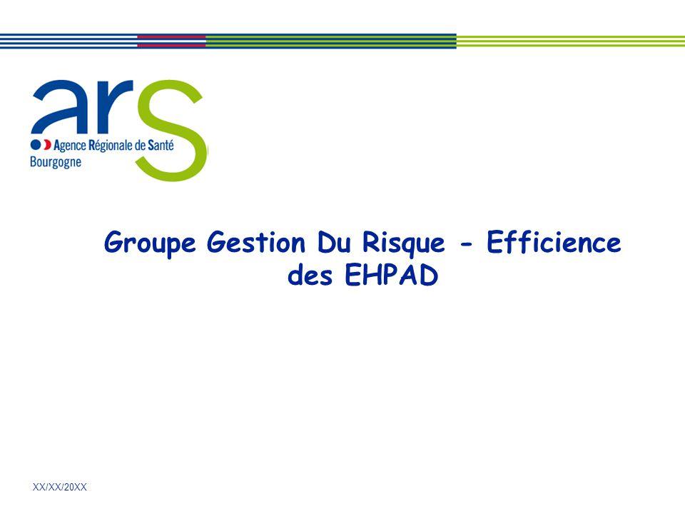XX/XX/20XX Groupe Gestion Du Risque - Efficience des EHPAD