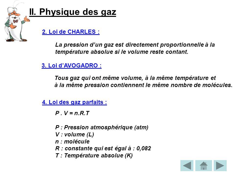 II.Physique des gaz 5.