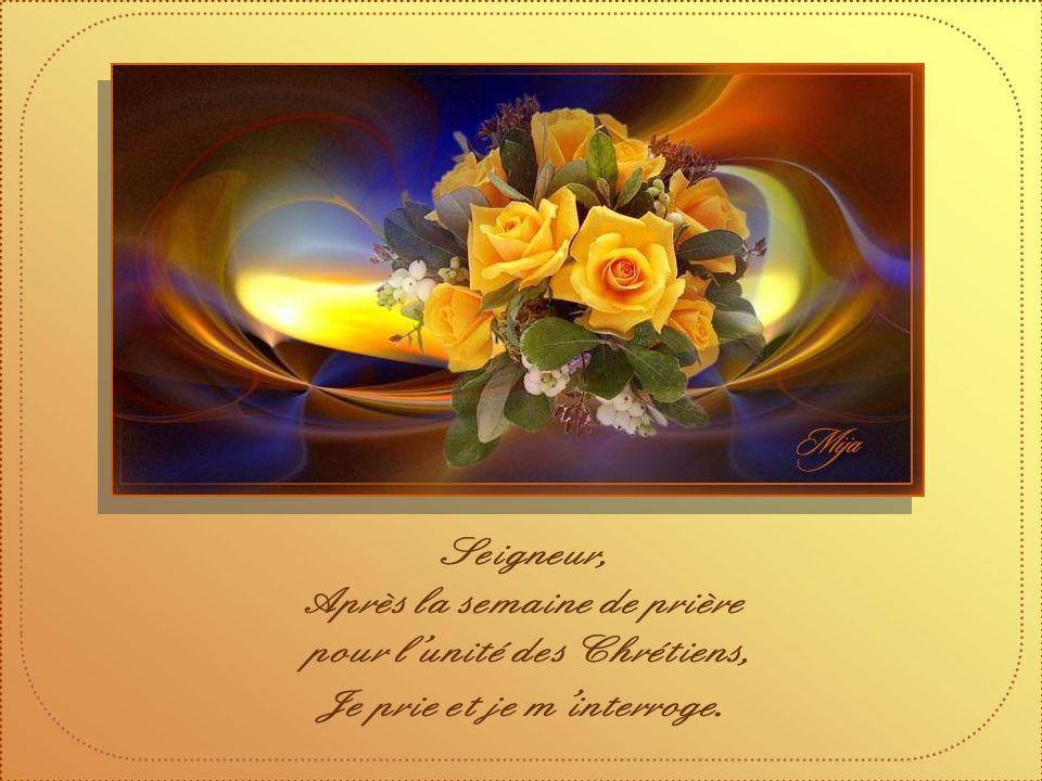 Je prie pour que tous acceptent le don du partage ; Je prie pour que Dieu nous invite à le suivre, Á limage de Jésus.