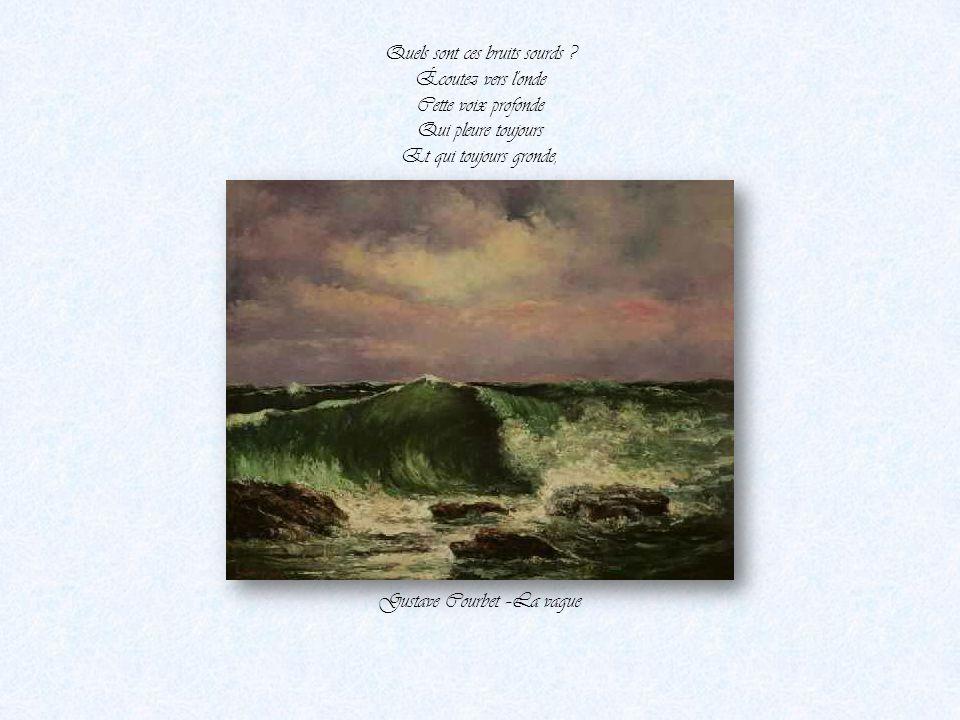 Victor Hugo Une nuit qu'on entendait la mer sans la voir Gustave Courbet-la mer vue de Palavas Par Nanou et Stan