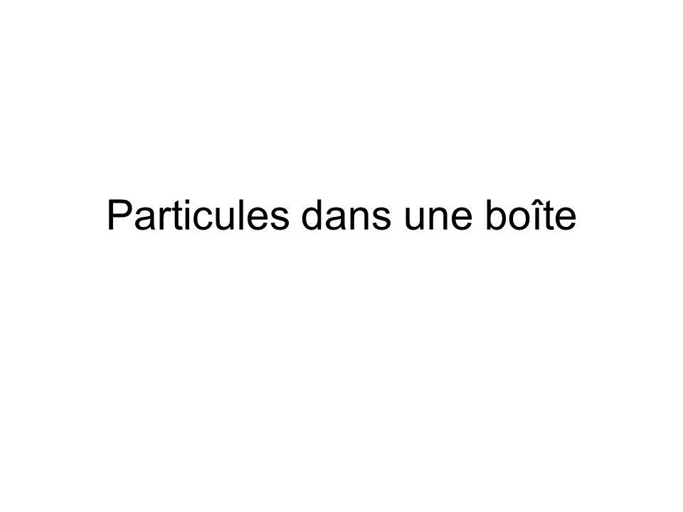 Particules dans une boîte
