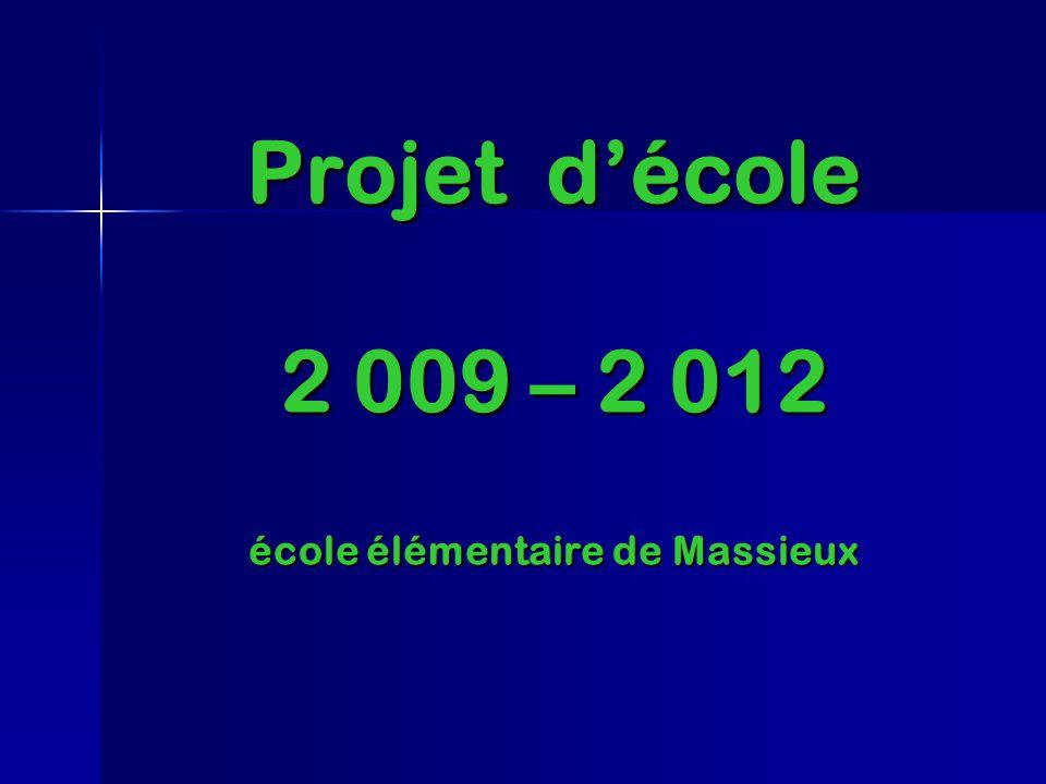 Projet décole 2 009 – 2 012 école élémentaire de Massieux