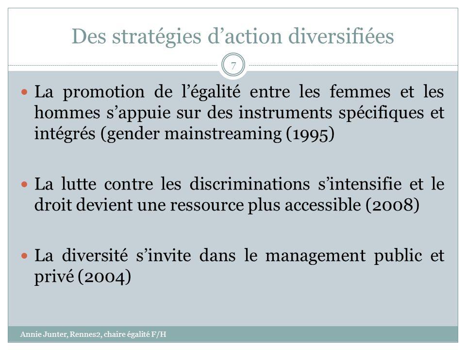 Des stratégies daction diversifiées La promotion de légalité entre les femmes et les hommes sappuie sur des instruments spécifiques et intégrés (gende