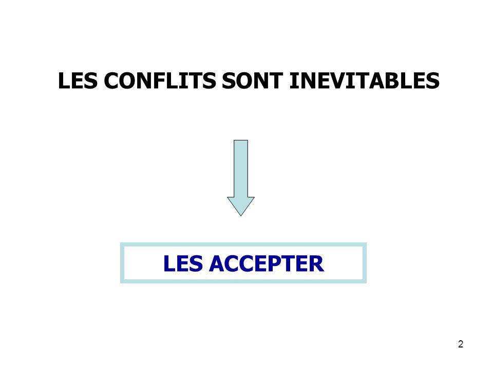 2 LES ACCEPTER LES CONFLITS SONT INEVITABLES