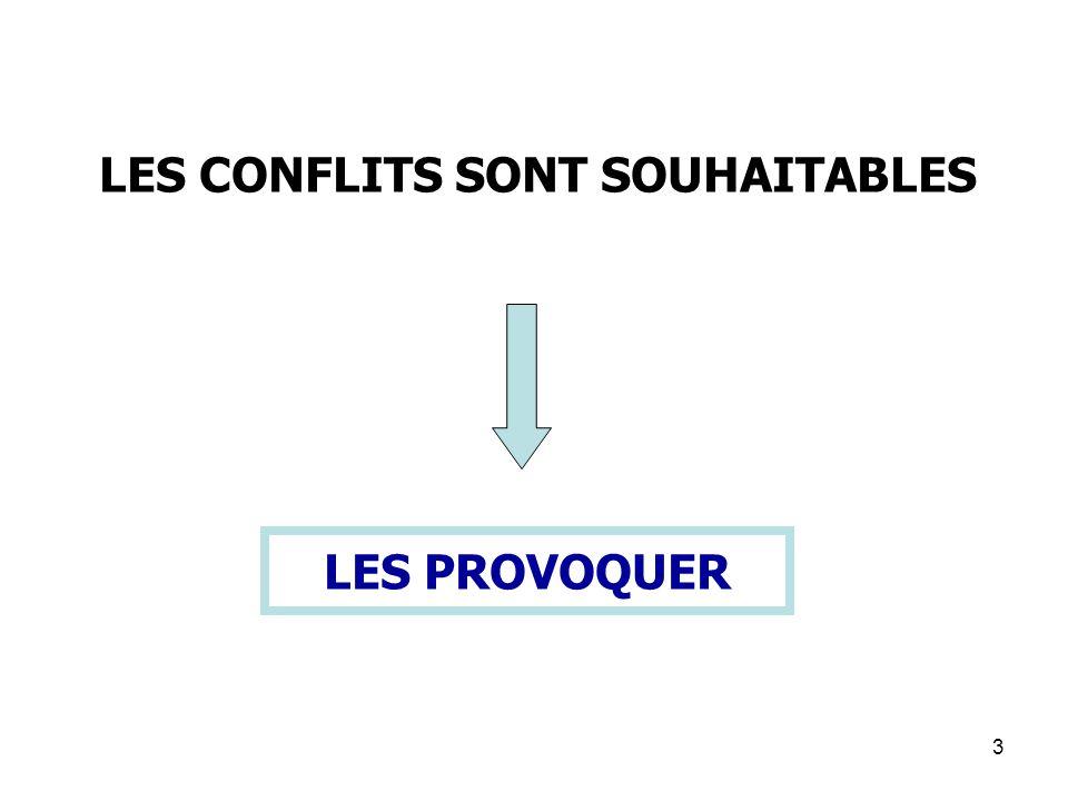 3 LES PROVOQUER LES CONFLITS SONT SOUHAITABLES