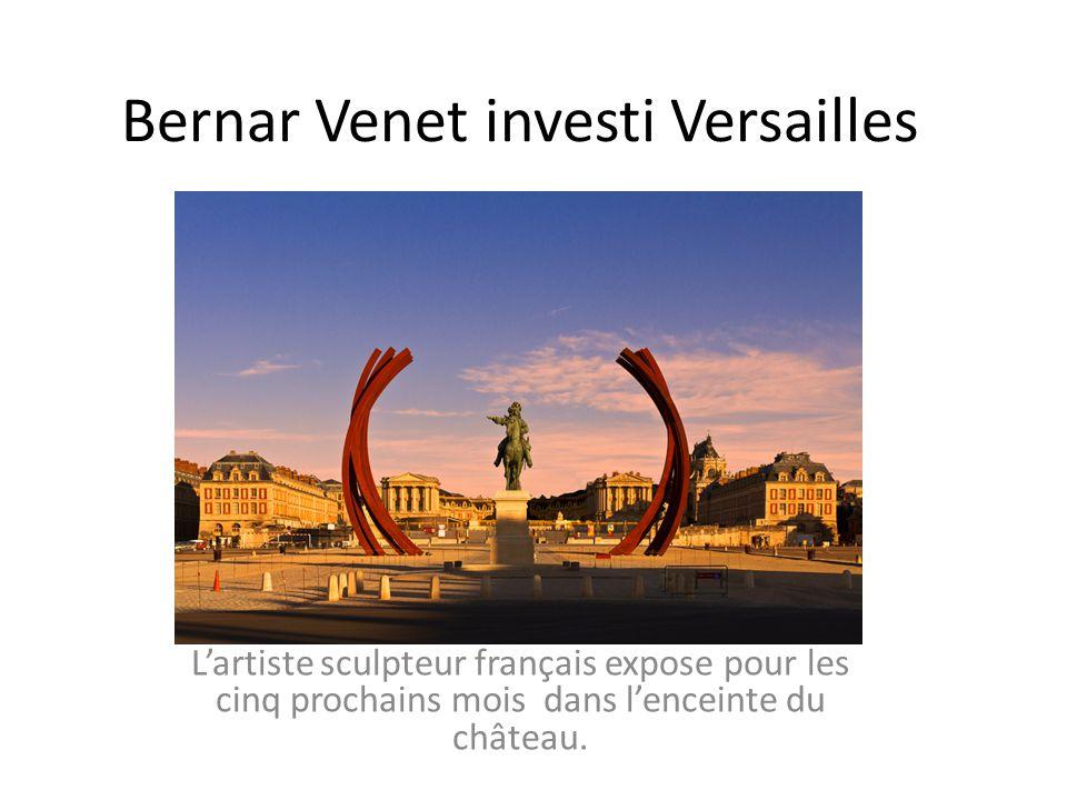 Bernar Venet investi Versailles Lartiste sculpteur français expose pour les cinq prochains mois dans lenceinte du château.