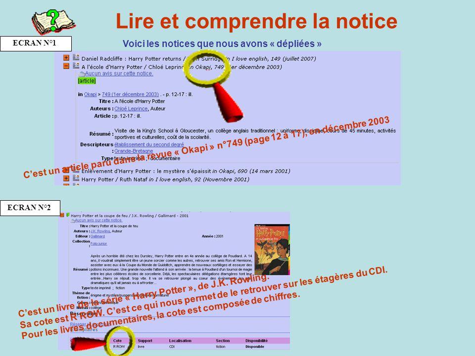 Lire et comprendre la notice Voici les notices que nous avons « dépliées » C e s t u n a r t i c l e p a r u d a n s l a r e v u e « O k a p i » n ° 7