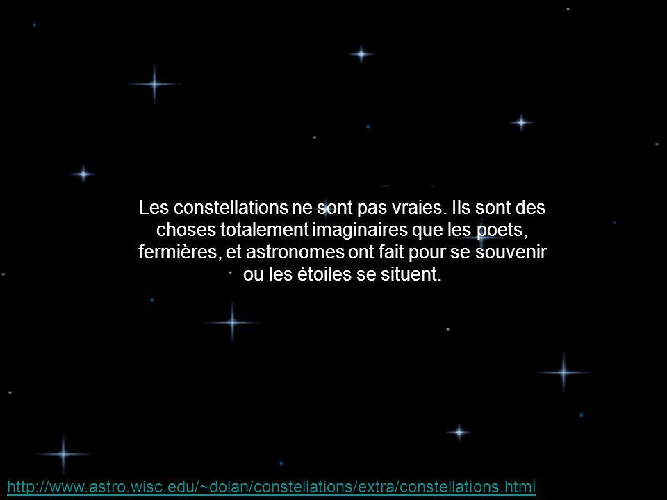 Les constellations ne sont pas vraies.