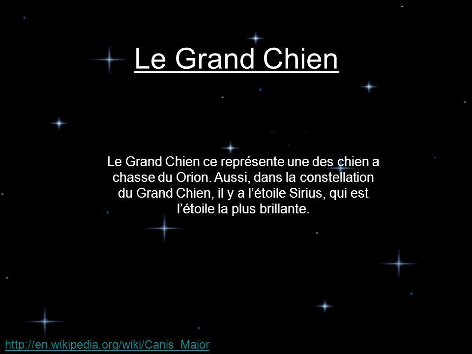 Le Grand Chien ce représente une des chien a chasse du Orion.