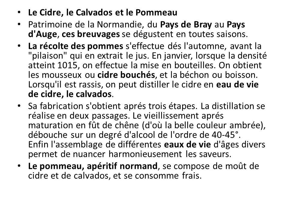 Le Cidre, le Calvados et le Pommeau Patrimoine de la Normandie, du Pays de Bray au Pays d'Auge, ces breuvages se dégustent en toutes saisons. La récol