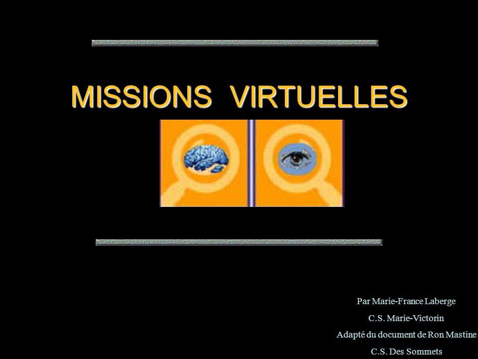 Les Missions virtuelles sont des activités structurées et guidées qui fournissent aux élèves une tâche bien définie, ainsi que les ressources et les consignes qui leur permettent de la remplir.