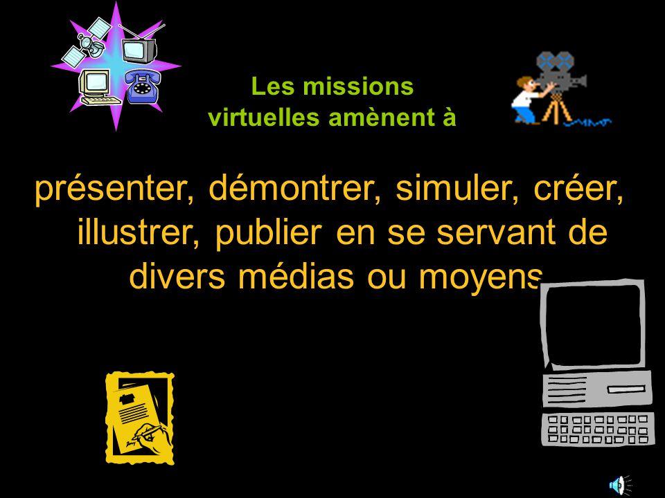 Projets présenter, démontrer, simuler, créer, illustrer, publier en se servant de divers médias ou moyens.