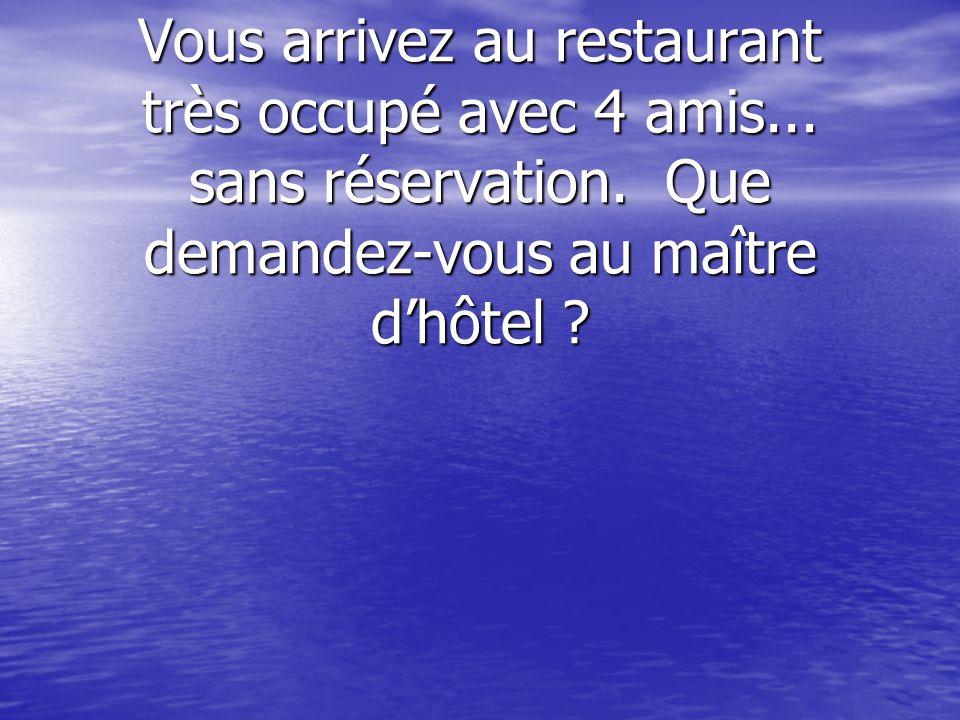 Il fait très beau aujourdhui et tu veux manger « en plein air » Où demandes-tu de tasseoir au restaurant ?
