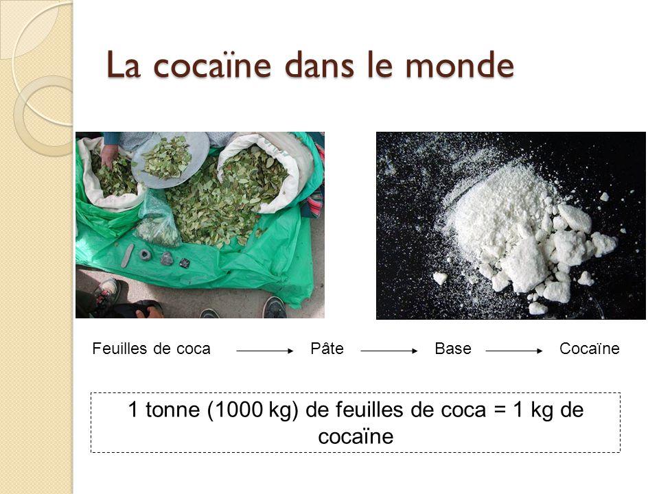 Les drogues de synthèse : doù ça vient.(suite) Comment estimer la production.