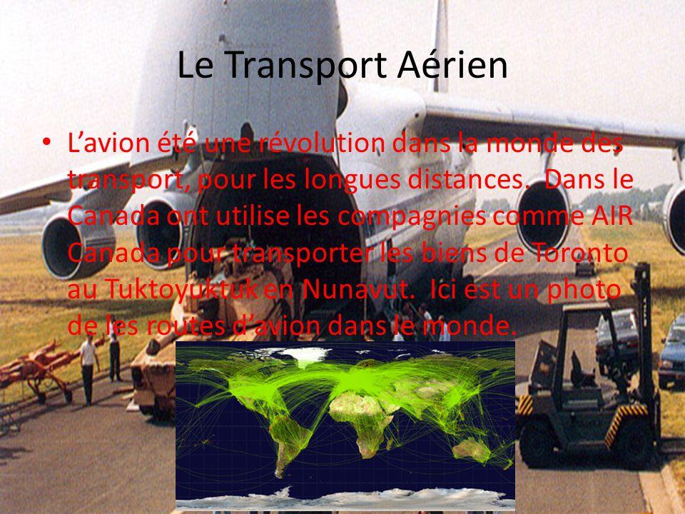 Le Transport Aérien Lavion été une révolution dans la monde des transport, pour les longues distances. Dans le Canada ont utilise les compagnies comme
