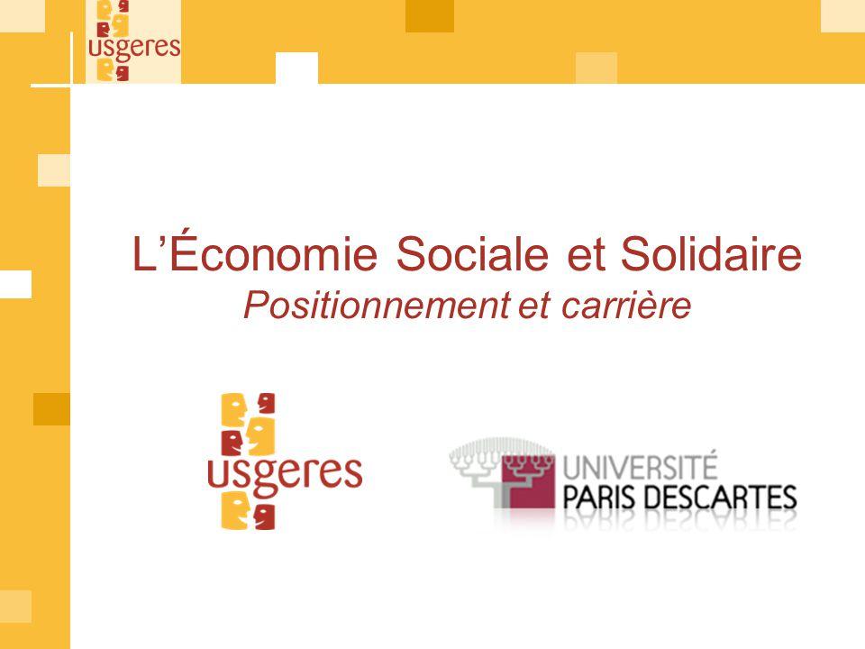 LÉconomie Sociale et Solidaire Positionnement et carrière