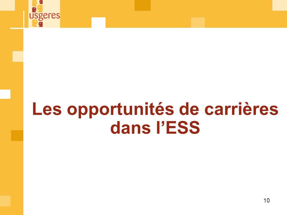 Les opportunités de carrières dans lESS 10