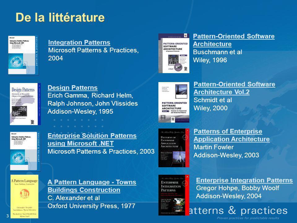 24 Du framework de développement à larchitecture dentreprise:.Net 3.x