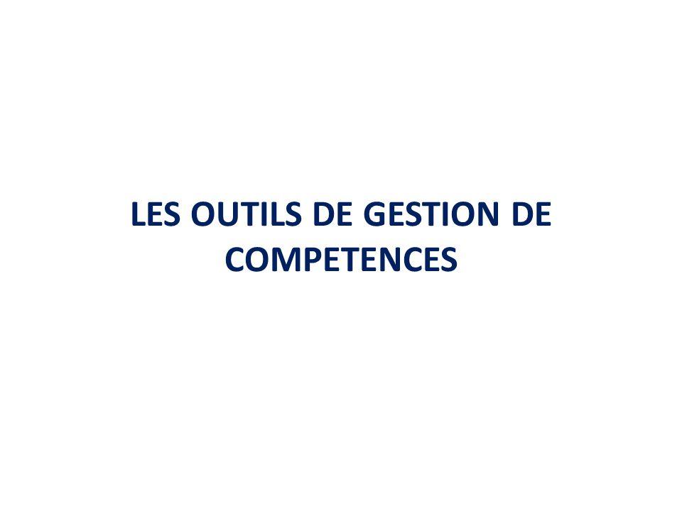 LES OUTILS DE GESTION DE COMPETENCES