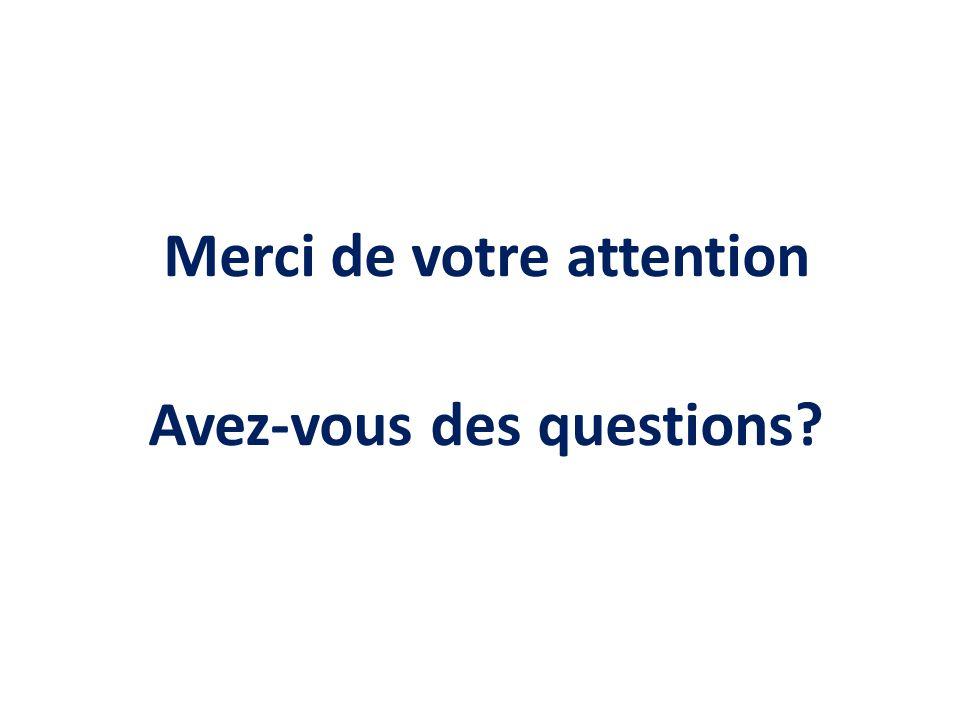 Merci de votre attention Avez-vous des questions?
