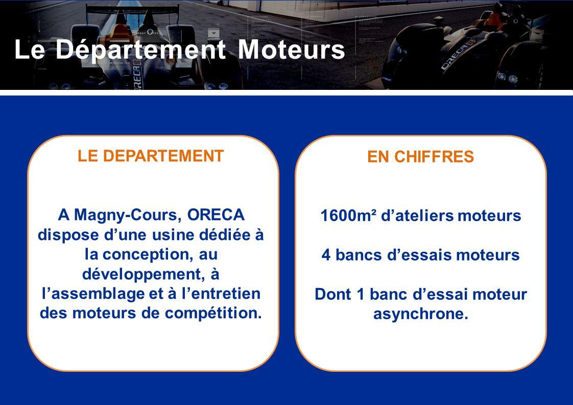 LE DEPARTEMENT A Magny-Cours, ORECA dispose dune usine dédiée à la conception, au développement, à lassemblage et à lentretien des moteurs de compétit