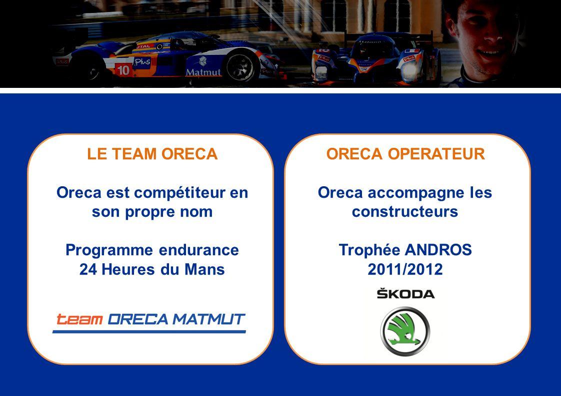 LE TEAM ORECA Oreca est compétiteur en son propre nom Programme endurance 24 Heures du Mans ORECA OPERATEUR Oreca accompagne les constructeurs Trophée