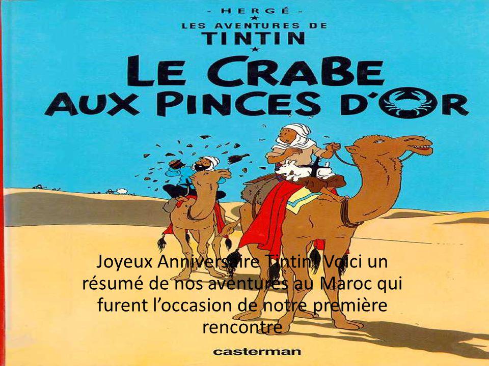 Joyeux Anniversaire Tintin.