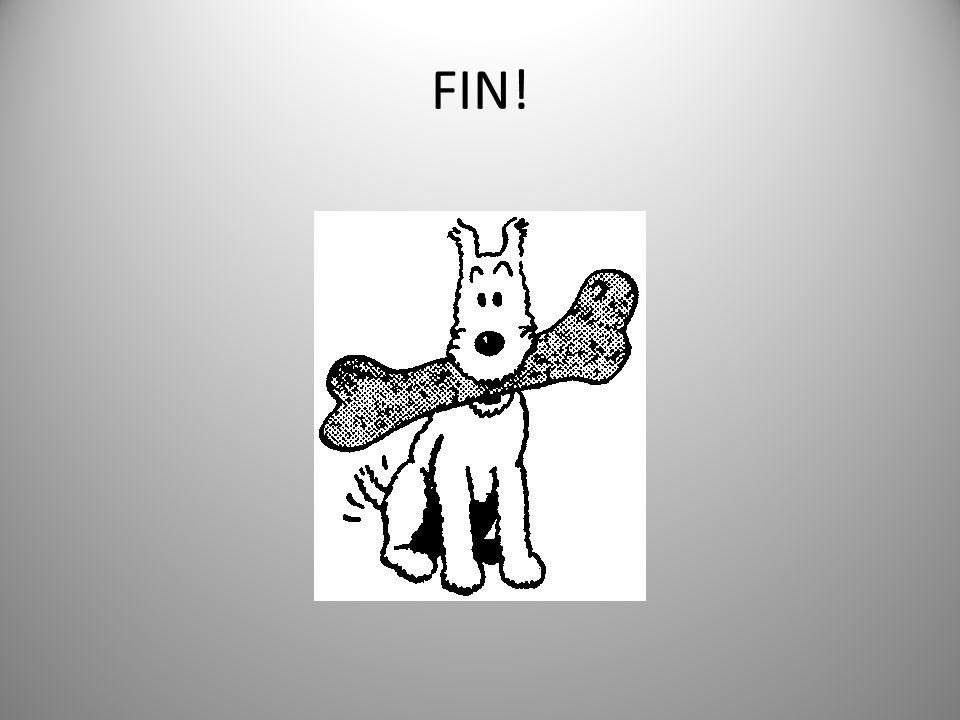 Merci! Tintin est remercié, Milou aussi, avec un bel os!