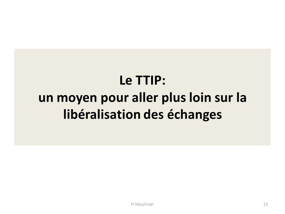 Le TTIP: un moyen pour aller plus loin sur la libéralisation des échanges H Moulinier11
