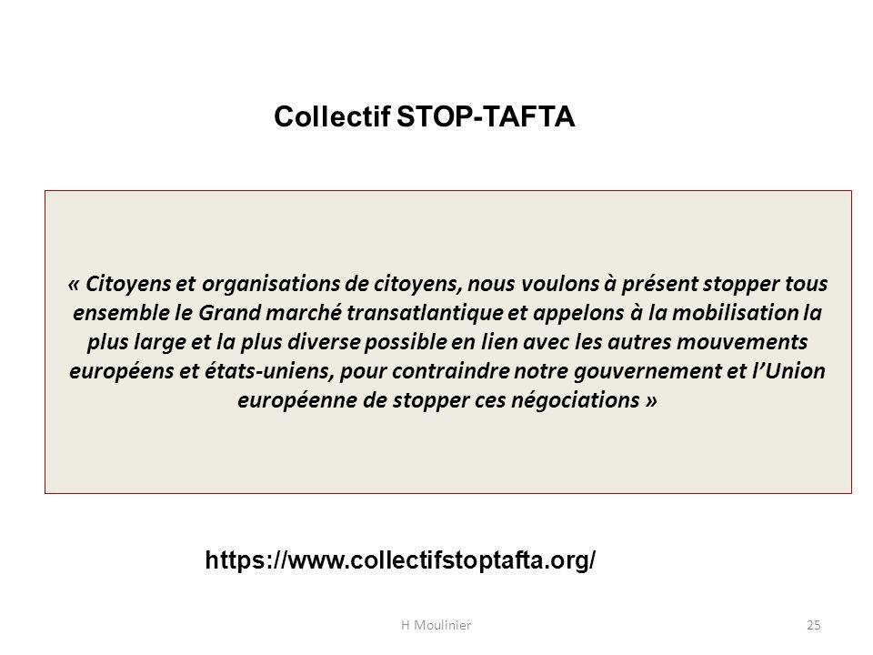 « Citoyens et organisations de citoyens, nous voulons à présent stopper tous ensemble le Grand marché transatlantique et appelons à la mobilisation la