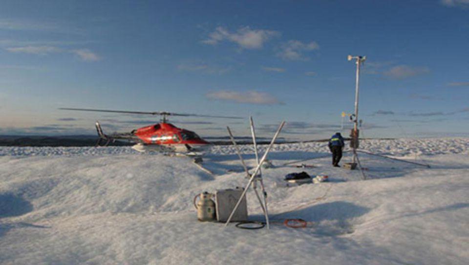 6 Station de North Ice, Groenland: -66,1° C North Ice à l'intérieur du Groenland. Autour du site se trouvent plusieurs villages dans lesquels, le 9 ja