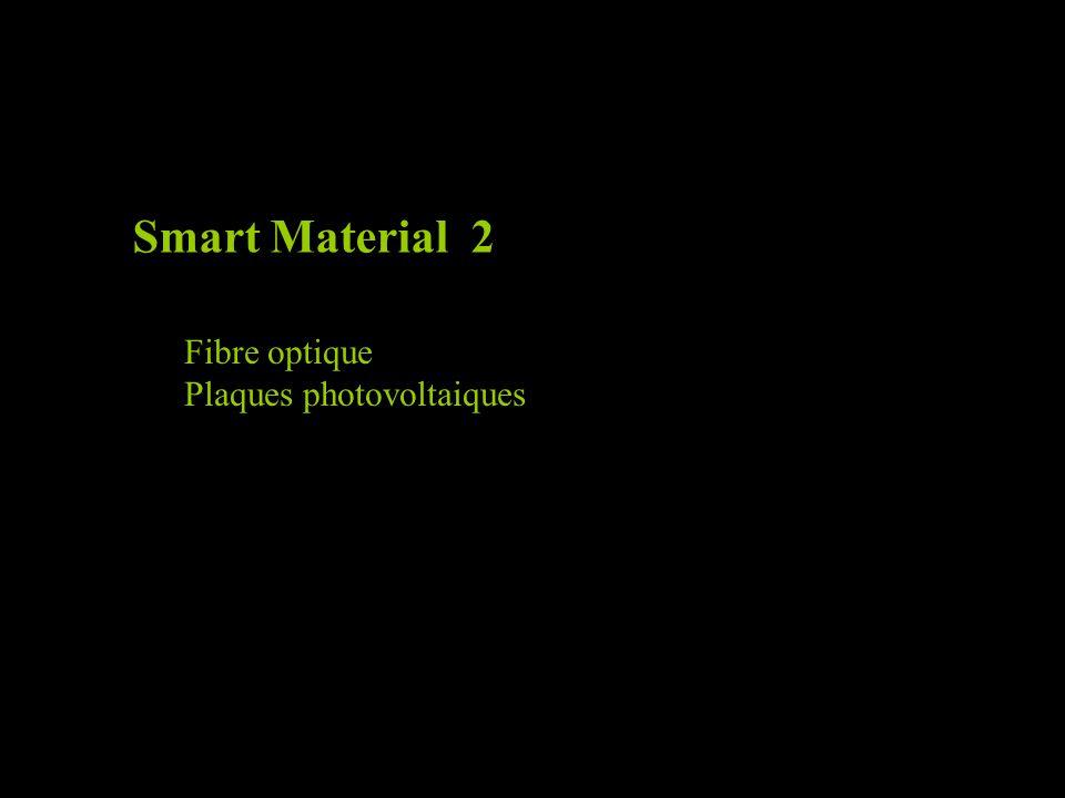 Smart Material 2 Fibre optique Plaques photovoltaiques