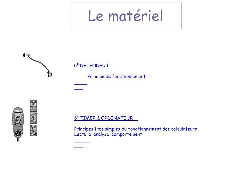 6° TIMER & ORDINATEUR Principes très simples du fonctionnement des calculateurs Lecture analyse comportement Le matériel 5° DETENDEUR Principe de fonc