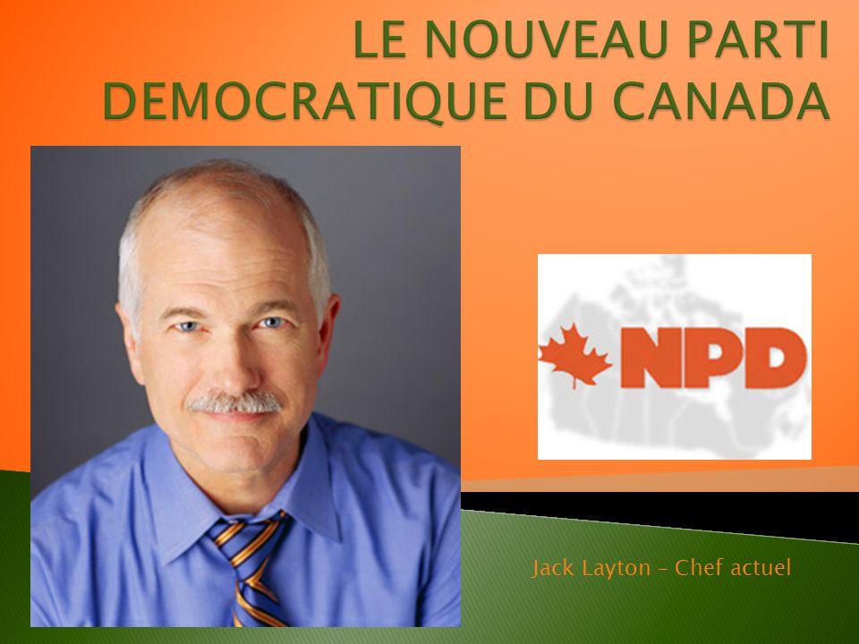 Jack Layton – Chef actuel