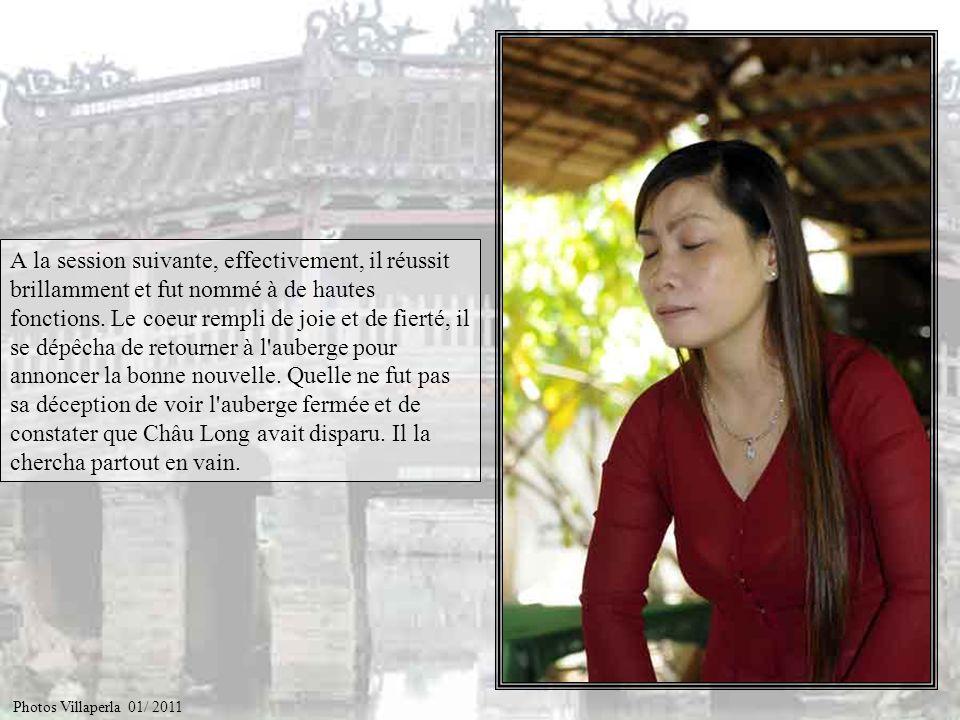 Châu Long poussait avec insistance Lưu Bình à étudier, l'encourageait de ses douces paroles et de sa détermination. Lưu Bình se laissa persuader par c