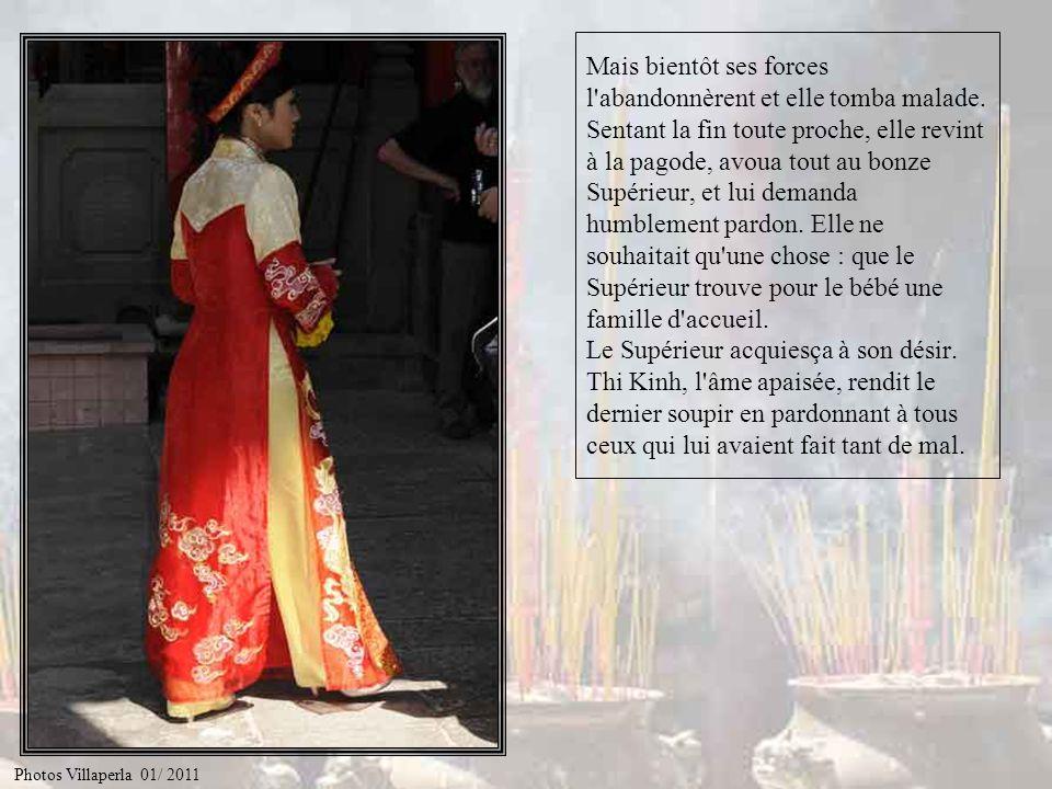 Obligée de ne pas révéler son identité, Thi Kinh ne pouvait rien faire d'autre que d'accepter la sanction qui la chassait de la pagode. Avec un bébé s