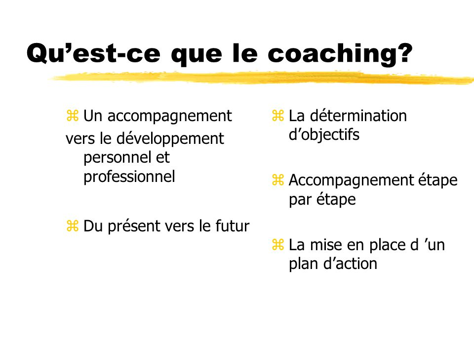 Quest-ce que le coaching.