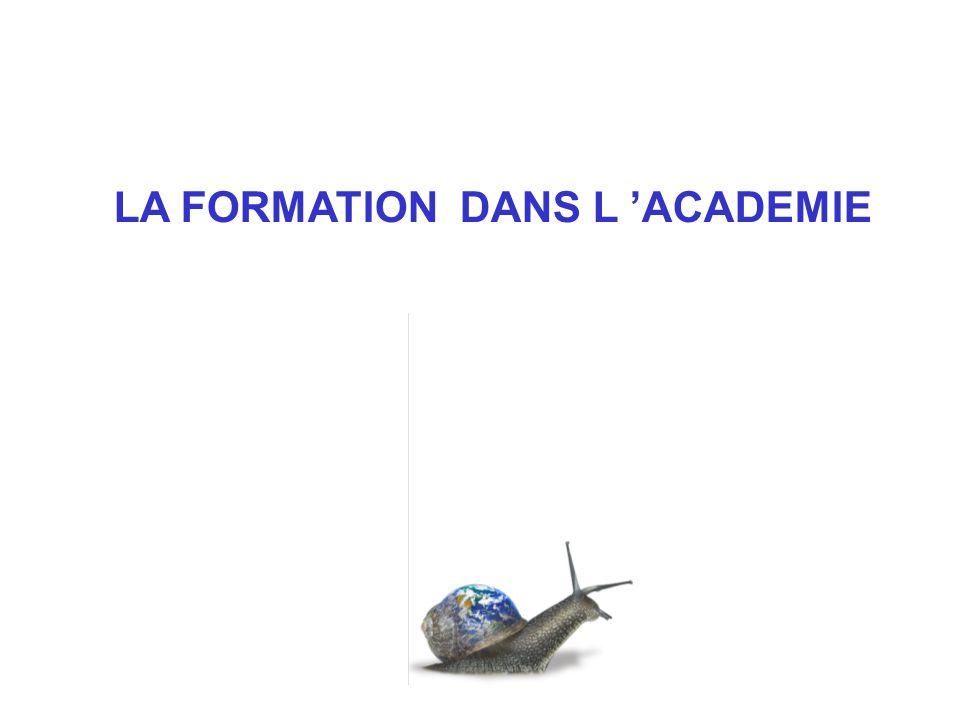 LA FORMATION DANS L ACADEMIE
