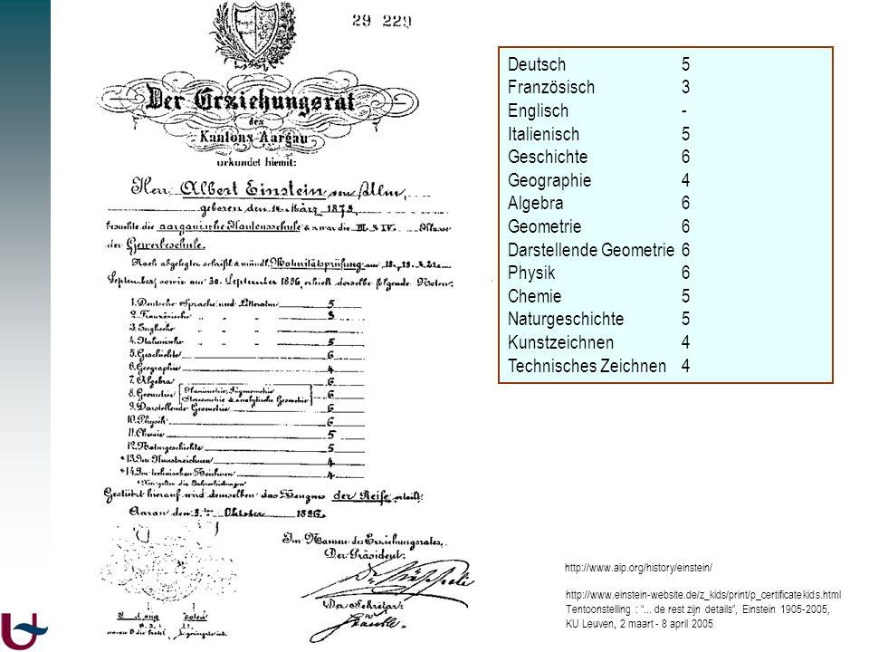 http://www.aip.org/history/einstein/ http://www.einstein-website.de/z_kids/print/p_certificatekids.html Tentoonstelling :... de rest zijn details, Ein
