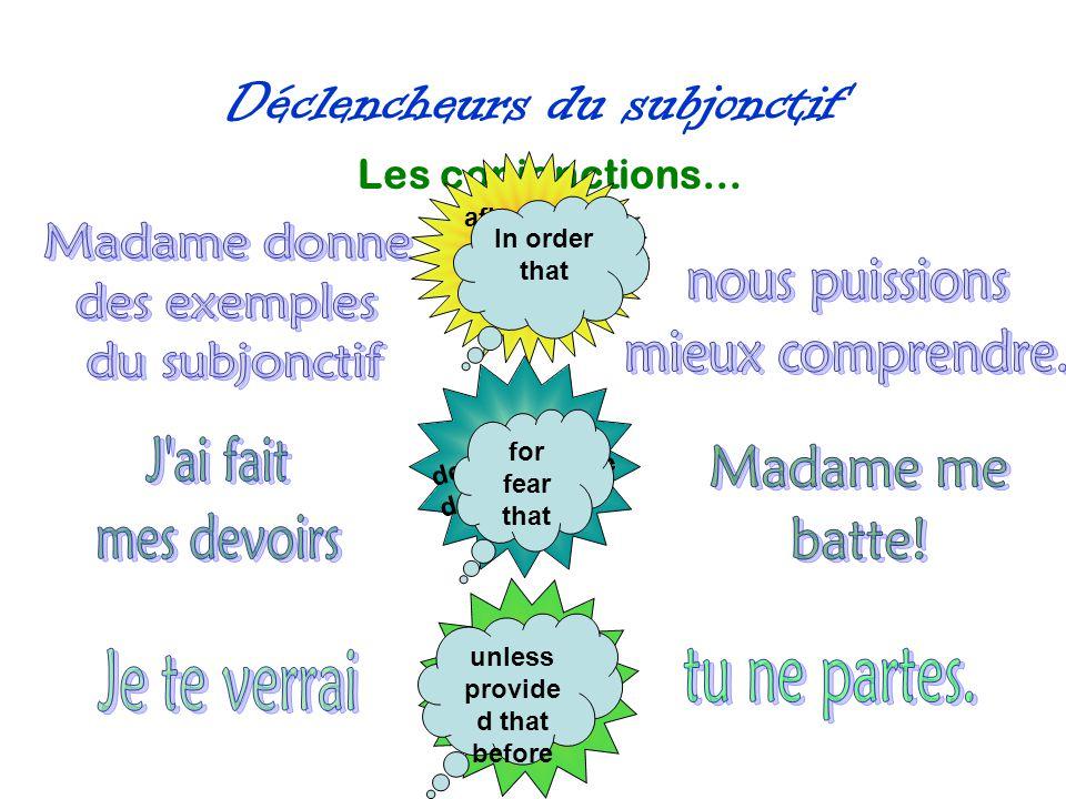 Déclencheurs du subjonctif Le superlatif.QUE Je connaisse ….