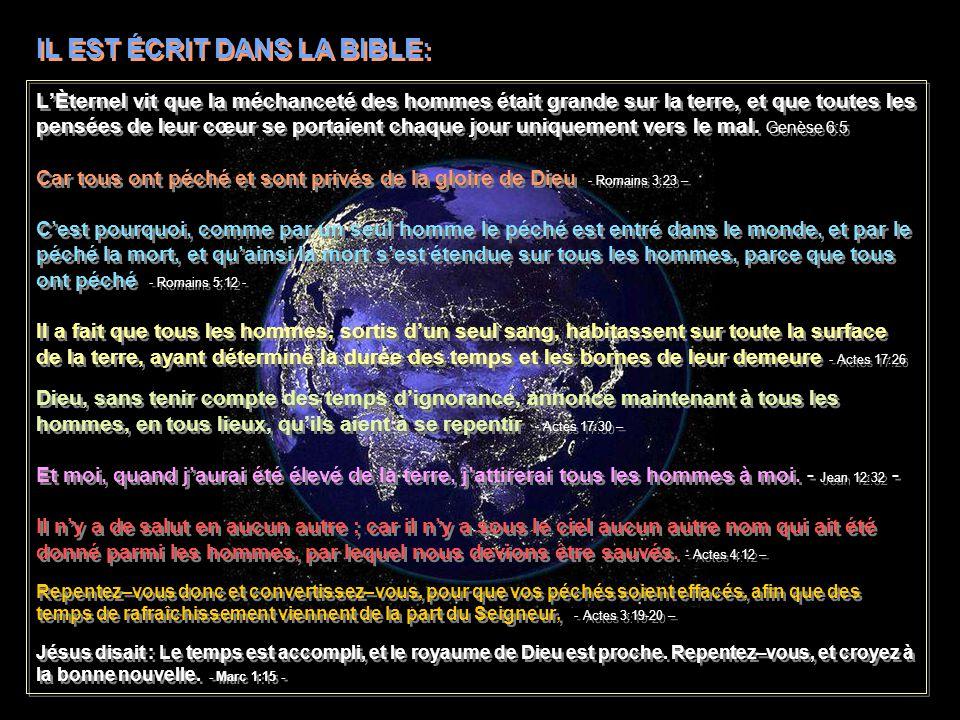 Et encore : Toi, Seigneur, tu as au commencement fondé la terre, Et les cieux sont louvrage de tes mains. - Hébreux 1:10 - Car en lui ont été créées t