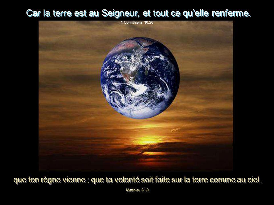 LA TERRE DANS CE VASTE UNIVERS… Genèse 2:4 Voici les origines des cieux et de la terre, quand ils furent créés. Lorsque lEternel Dieu fit une terre et
