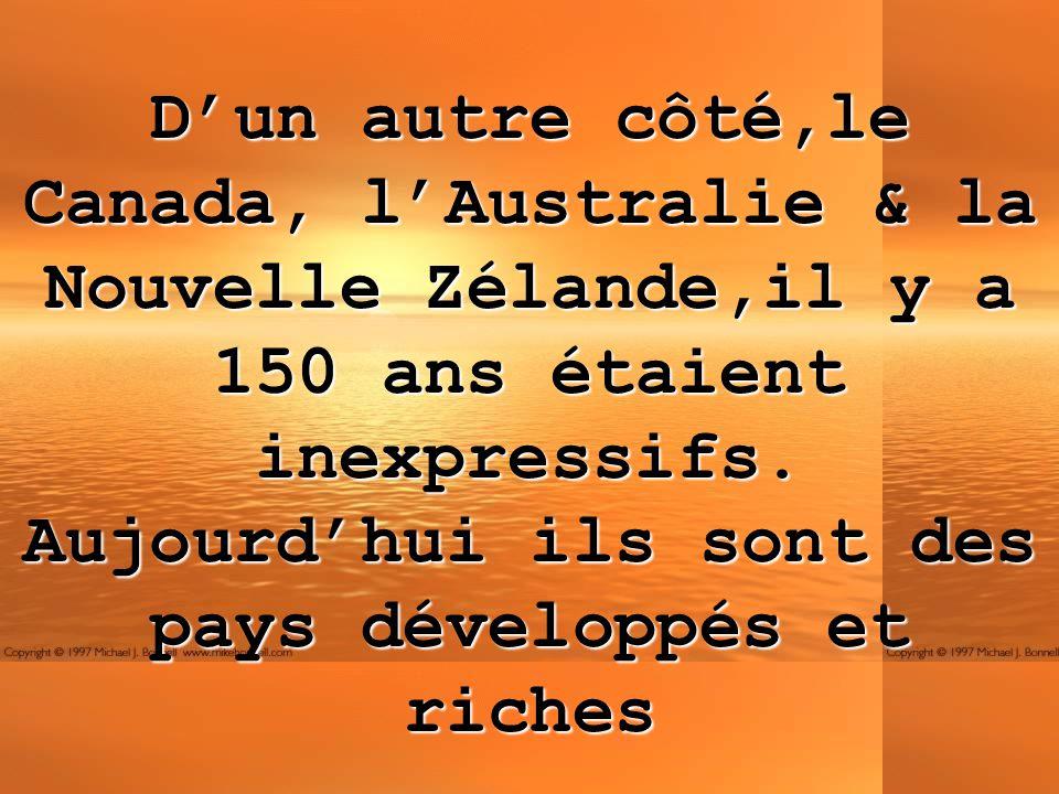 La difference entre les pays pauvres et les pays riches nest pas fonction de létendue du pays et des ressources naturelles.