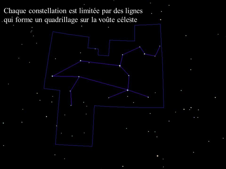 Club d'Astronomie - Lycée Saint Exupéry - Lyon Chaque constellation est limitée par des lignes qui forme un quadrillage sur la voûte céleste