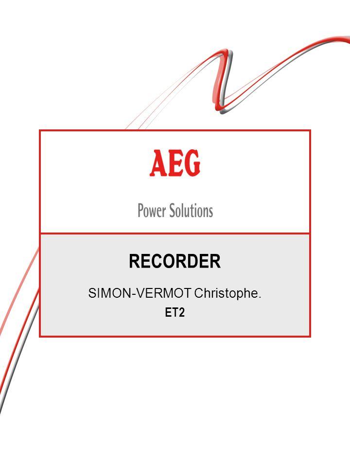 RECORDER SIMON-VERMOT Christophe. ET2